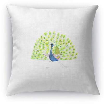 Full Peacock Throw Pillow
