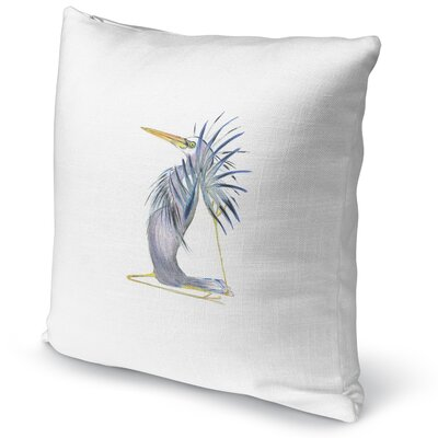 Great Heron in Pidgeon Accent Pillow