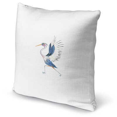 Heron In High Lunge Accent Pillow