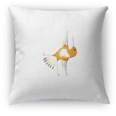 Hummingbird In Half Moon Accent Pillow
