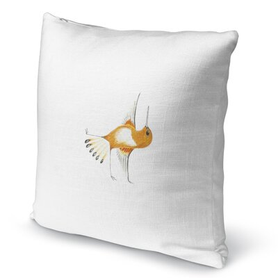 Hummingbird In Half Moon Accent Pillow