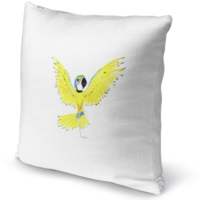 Macaw In Tree Accent Pillow
