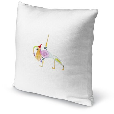 Mandarin In Fallen Triangle Accent Pillow