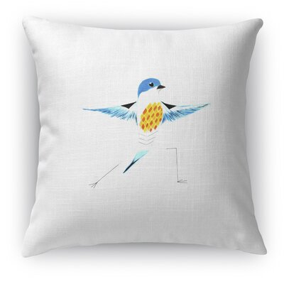 Missouri Bird in Warrior Throw Pillow
