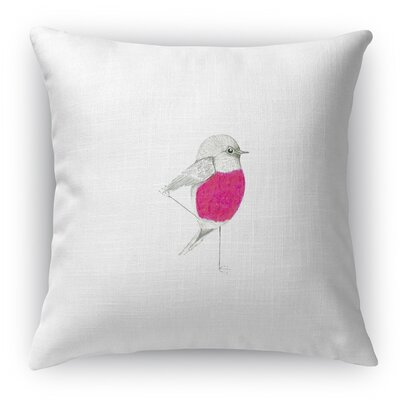 Pink Robin Throw Pillow