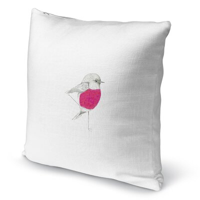 Pink Robin Accent Pillow