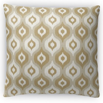 Harmony Throw Pillow Size: 18 H x 18 W x 4 D, Color: Brown
