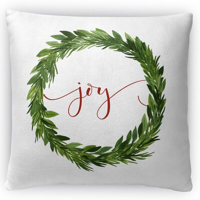 Joy Throw Pillow Size: 18 H x 18 W x 4 D