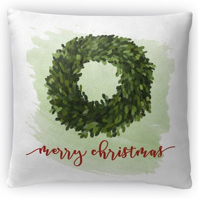 Merry Christmas Throw Pillow Size: 18 H x 18 W x 4 D