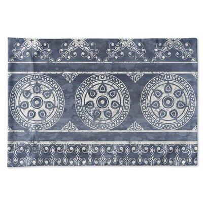 Chelsea Pillow Case Color: Blue, Size: 20 H x 40 W x 1 D