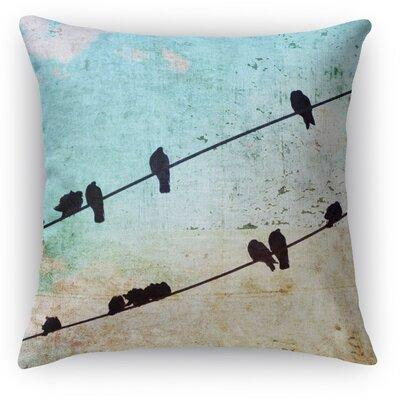 Tweet Throw Pillow Size: 24 H x 24 W x 5 D