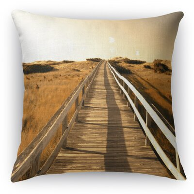Off To The Beach Throw Pillow Size: 16 H x 16 W x 5 D