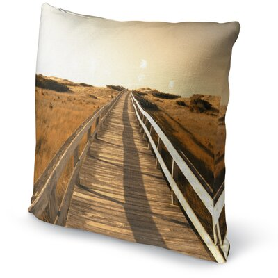 Off To The Beach Accent Pillow Size: 18 H x 18 W x 5 D