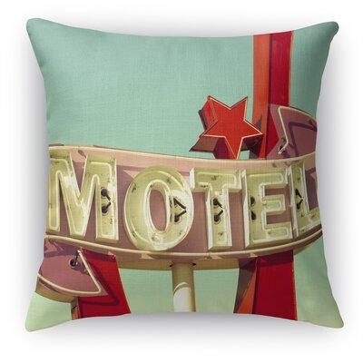 Motel Throw Pillow Size: 16 H x 16 W x 5 D