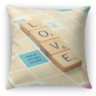 Love Is The Word Throw Pillow Size: 18 H x 18 W x 5 D
