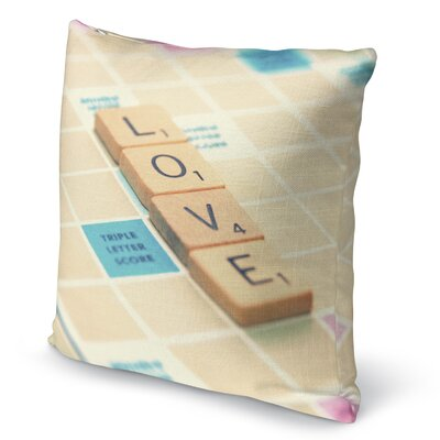 Love Is The Word Accent Pillow Size: 18 H x 18 W x 5 D