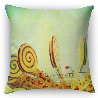 Lollypop Love Throw Pillow Size: 18 H x 18 W x 5 D