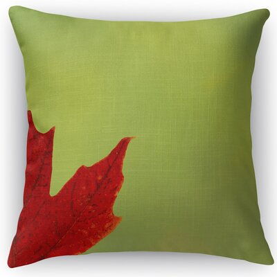 Leaf Throw Pillow Color: Green, Size: 24 H x 24 W x 5 D