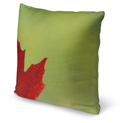 Leaf Accent Pillow Size: 16 H x 16 W x 5 D, Color: Red/ Green