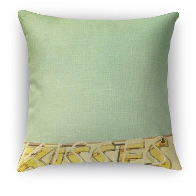 Kisses Throw Pillow Size: 18 H x 18 W x 5 D