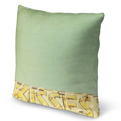 Kisses Accent Pillow Size: 24 H x 24 W x 5 D