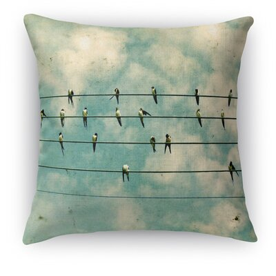 Flock Throw Pillow Size: 18 H x 18 W x 5 D