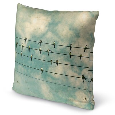 Flock Accent Pillow Size: 16 H x 16 W x 5 D