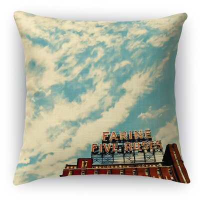 Farine Throw Pillow Size: 24 H x 24 W x 5 D