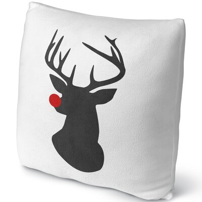 Rudolph Throw Pillow Size: 18 H x 18 W x 4 D