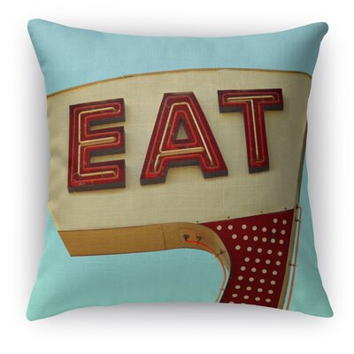 Eat Throw Pillow Size: 16 H x 16 W x 5 D