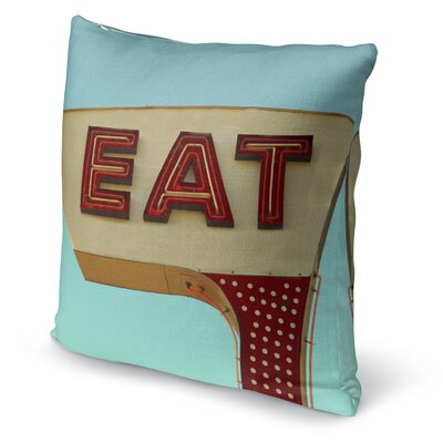Seema Eat Accent Pillow Size: 16 H x 16 W x 5 D