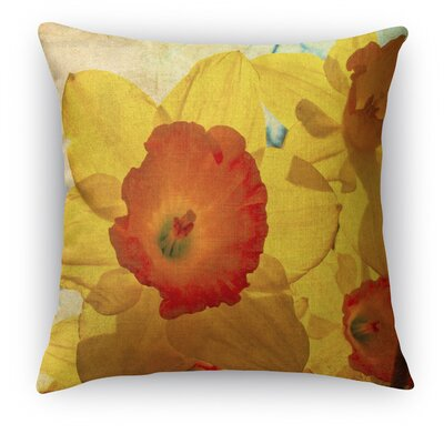 Daffodil Throw Pillow Size: 16 H x 16 W x 5 D