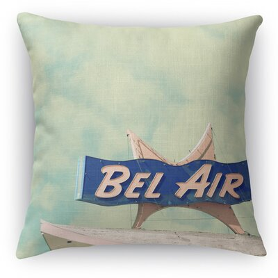 Bel Air Motel Throw Pillow Size: 24 H x 24 W x 5 D