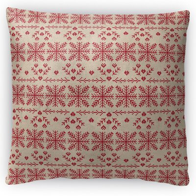 Christmas in Red Throw Pillow Size: 18 H x 18 W x 4 D