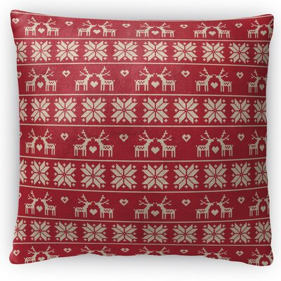 Christmas Love Throw Pillow Size: 16 H x 16 W x 4 D