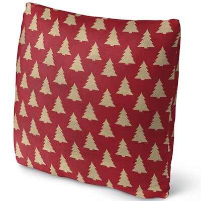 Christmas Tree Throw Pillow Size: 18 H x 18 W x 4 D