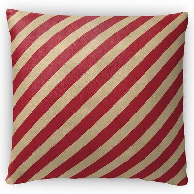 Stripes Throw Pillow Size: 18 H x 18 W x 4 D