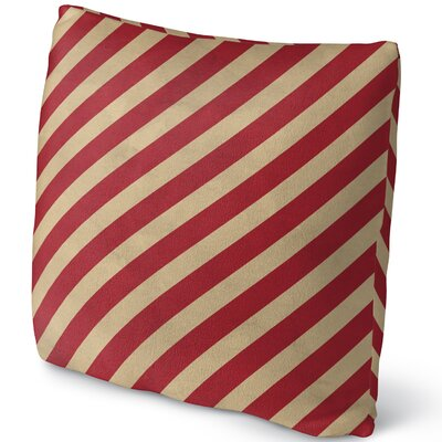 Stripes Throw Pillow Size: 18 H x 18 W x 4 D
