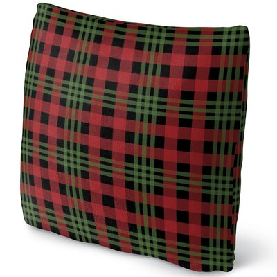 Christmas Plaid Throw Pillow Size: 18 H x 18 W x 4 D