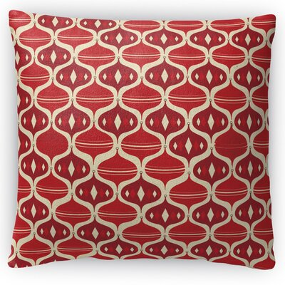 Holiday Ogee Throw Pillow Size: 16 H x 16 W x 4 D