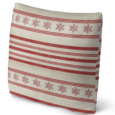 Mollien Stripes Throw Pillow Size: 16 H x 16 W x 4 D