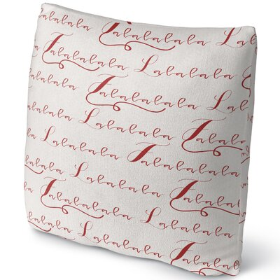 Lalala Throw Pillow Size: 18 H x 18 W x 4 D