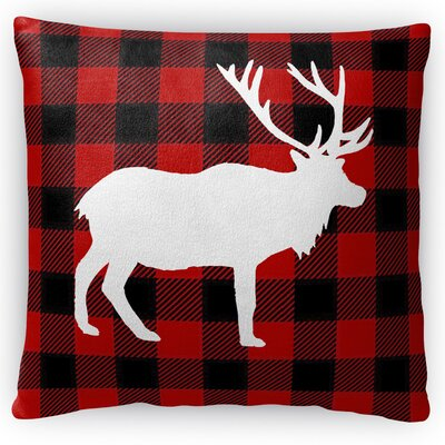 Deer Plaid Throw Pillow Size: 16 H x 16 W x 4 D