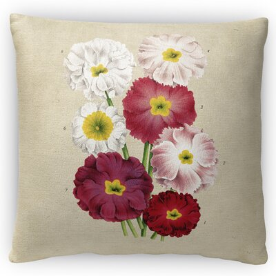 Flower Throw Pillow Size: 16 H x 16 W x 4 D