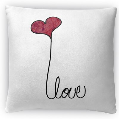 Love Throw Pillow Size: 16 H x 16 W x 4 D