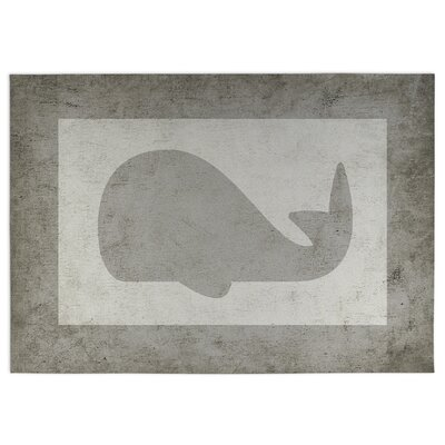 Whale Doormat Rug Size: Square 8