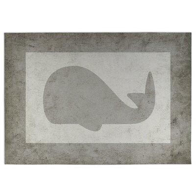 Whale Doormat Rug Size: 4 x 5