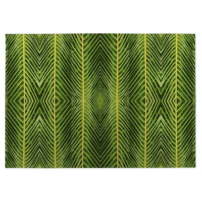 Palm Leaf Doormat Rug Size: 5 x 7