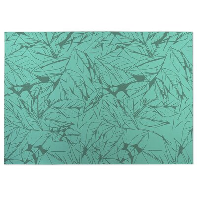 Leaves Doormat Mat Size: 4 x 5