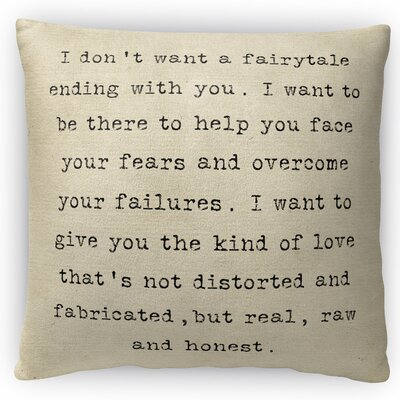Real Love Throw Pillow Size: 16 H x 16 W x 4 D